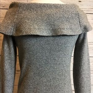 White House Black Market Sweaters - WHBM SILVER SWEATER SMALL